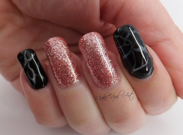 30 Creative Designs for Black Acrylic Nails That Will Catch Your Eye - Black Acrylic Nails with Rose Gold