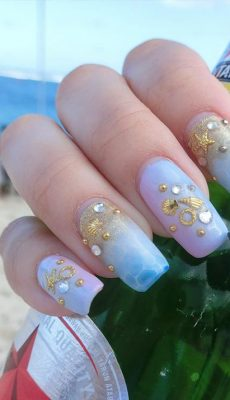 21 Elegant Coffin Acrylic Nails Design You Should Try Right Now
