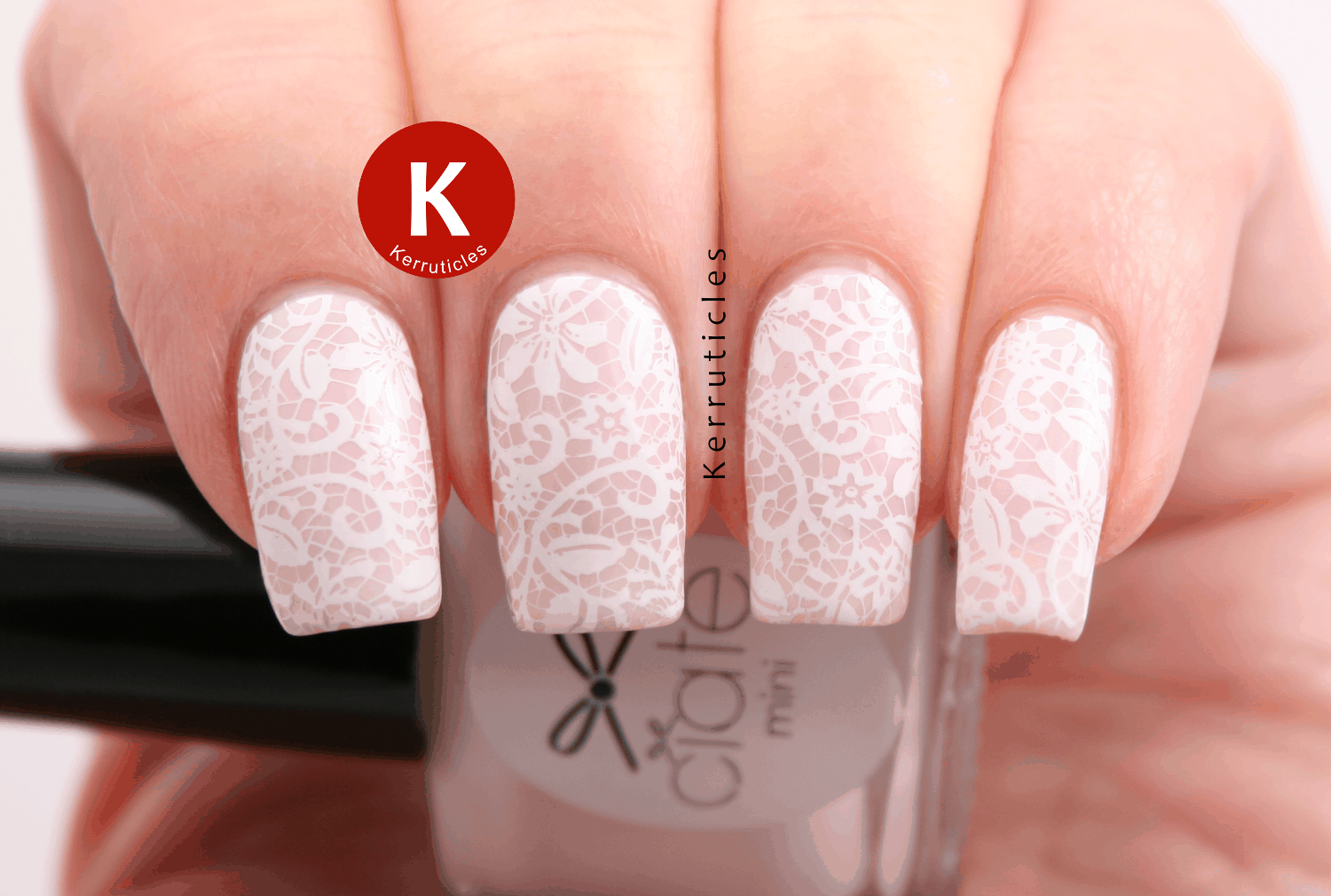 32 Super Cool Pink Nail Designs That Every Girl Will Love - Lace Nail Art