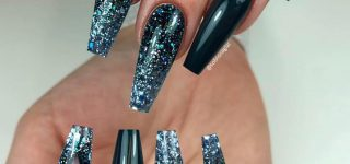 30 Creative Designs for Black Acrylic Nails That Will Catch Your Eye