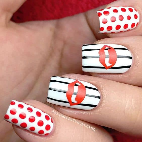 Easy Halloween Nail Art Designs Ideas with Pictures and Steps - Vampire Lips