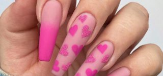 Valentine Nail Designs For A Hot Date Or An Outing