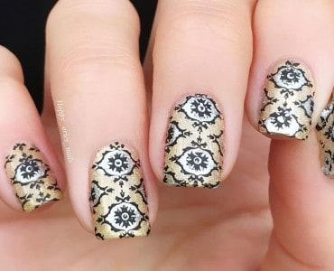 Damask Nail Designs