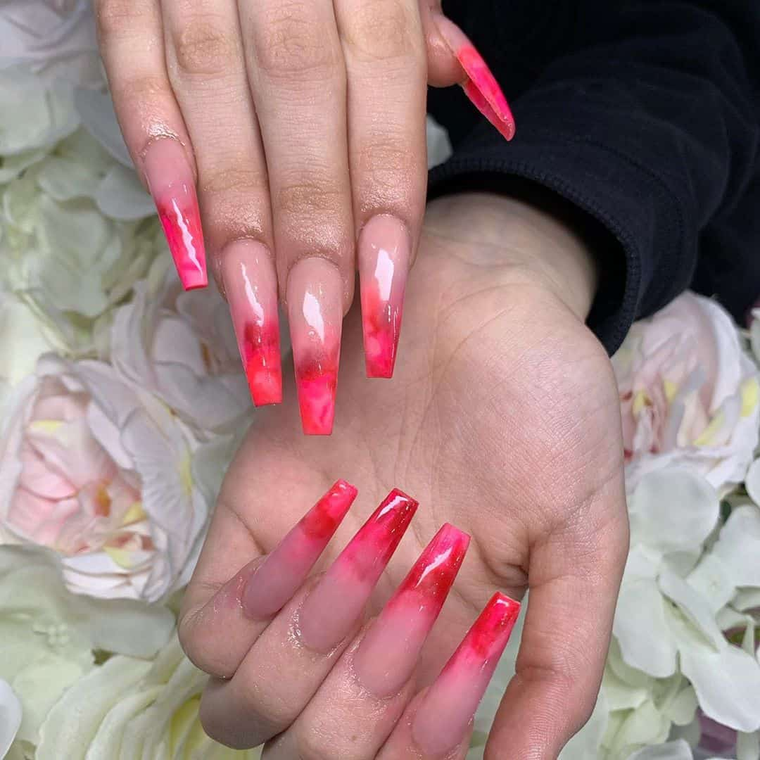 Warm Up Your Hands With These Perfect Nail Designs For The Winter - Hot Red