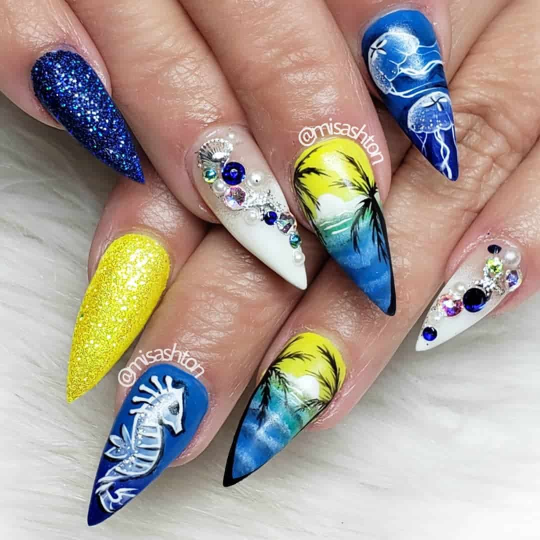 Are you ready for summer? Just check out our post on Summer Nail Design Ideas. You will be ready to start in this hot summer sun with these amazing nail designs. #summer #nailart #nailideas #naildesigns