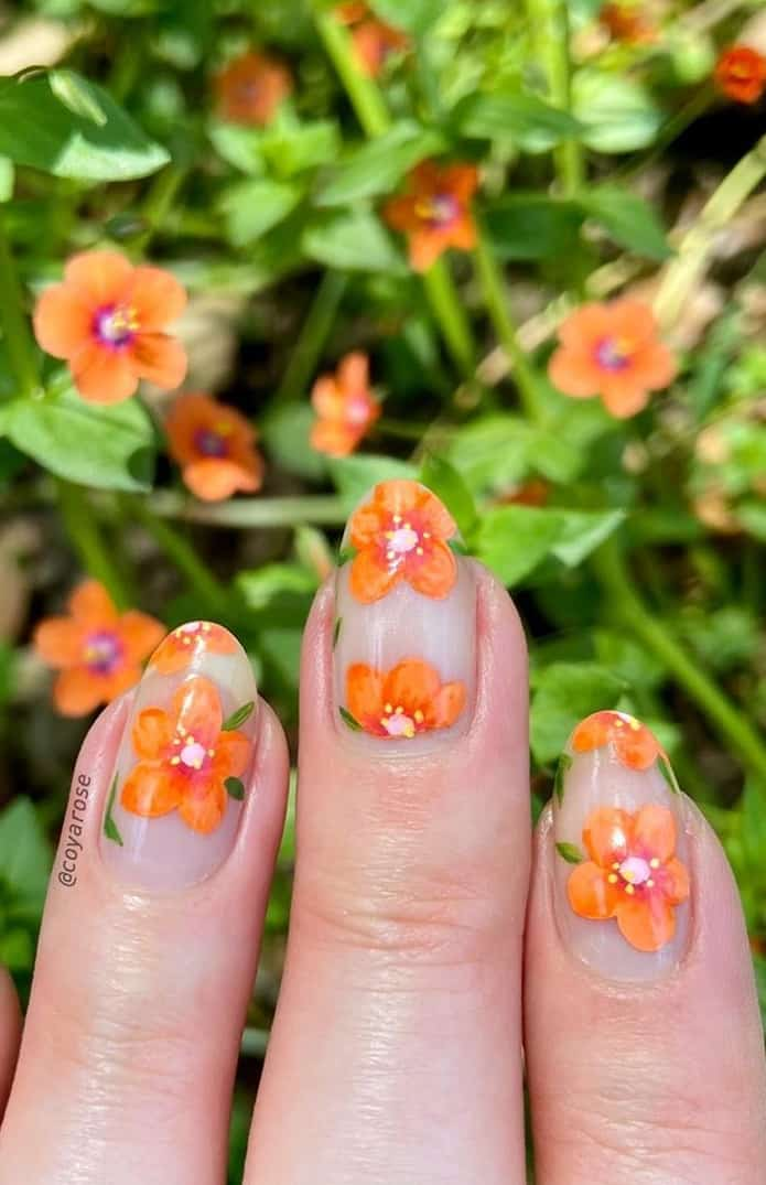 Perfect Negative Space Designs for Your Nails This Season - Floral Designs