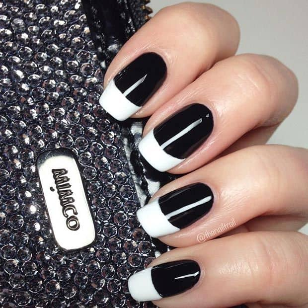 Creating the Best French Manicure Nail Tip Designs - Black and White Version