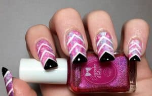 Create New Manicure Design Ideas with the Chevron Nails