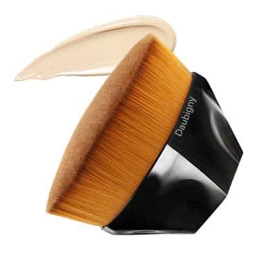 Foundation Makeup Brush Flat Top Kabuki Hexagon by Daubigny