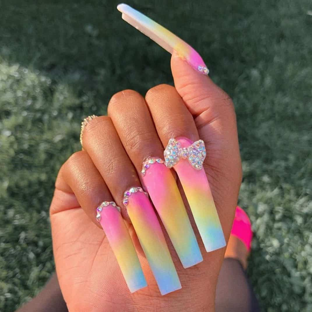 Long Nail Designs To Inspire You - Ombre Look