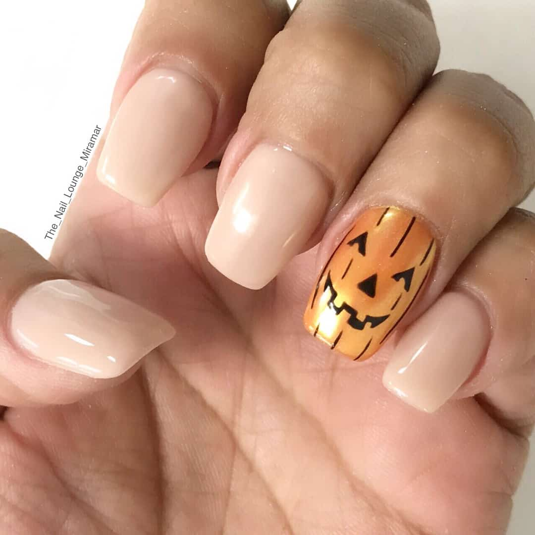 Easy Halloween Nail Art Designs Ideas with Pictures and Steps - Pumpkin Jack