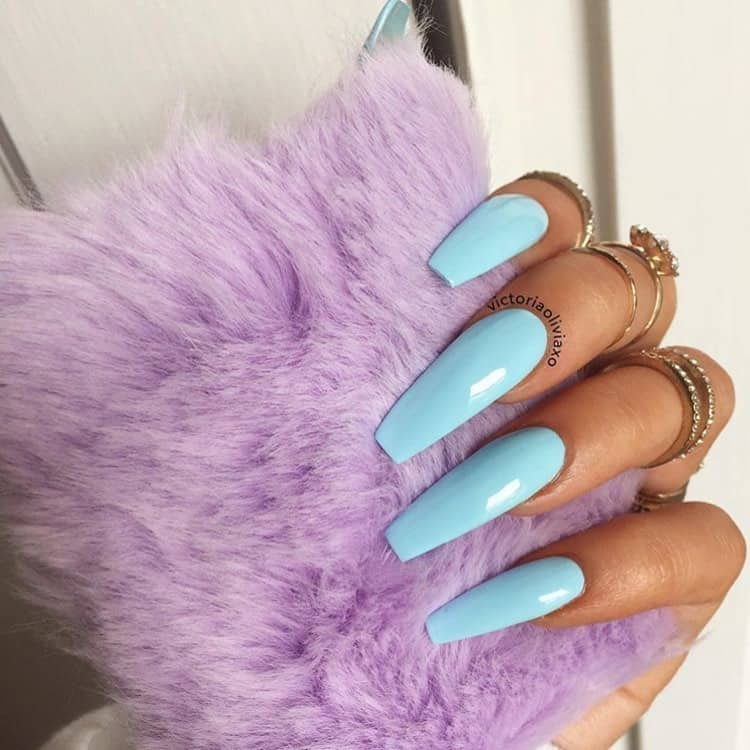 Pretty Designs For Your Nails On Your Wedding - New Color Trend - Baby Blue