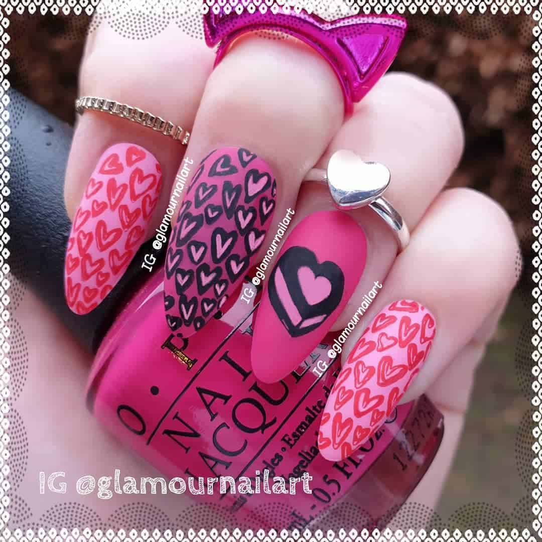 70 Trendy Designs Acrylic Nails To Try Once -Stamped Acrylic Nail Designs