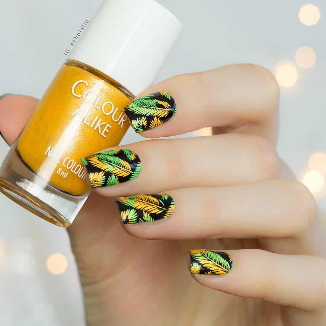 70 Trendy Designs Acrylic Nails To Try Once - Stamped Acrylic Nail Designs