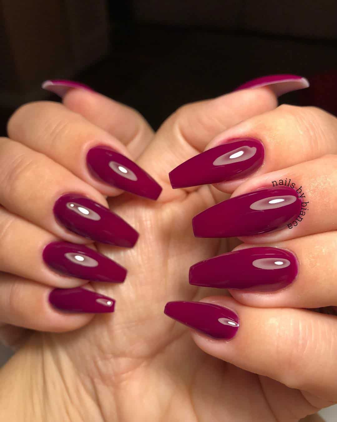 32 Super Cool Pink Nail Designs That Every Girl Will Love -Hot Pink Nail Designs