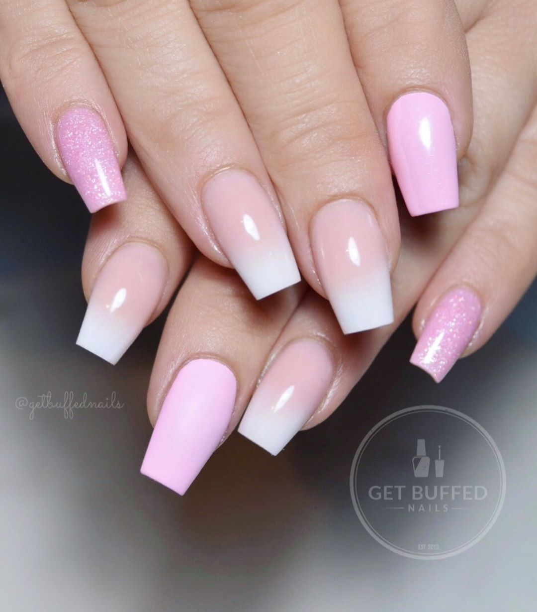 32 Extraordinary White Acrylic Nail Designs to Finish Your Trendy Look - Pink and White Acrylic Nails