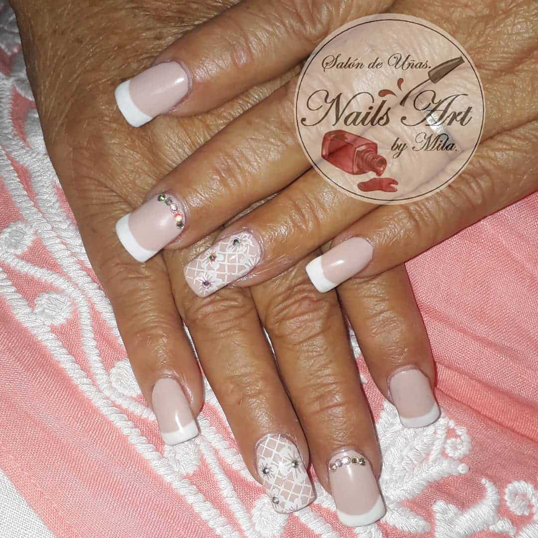 70 Trendy Designs Acrylic Nails To Try Once - French Manicure Nail Design Ideas