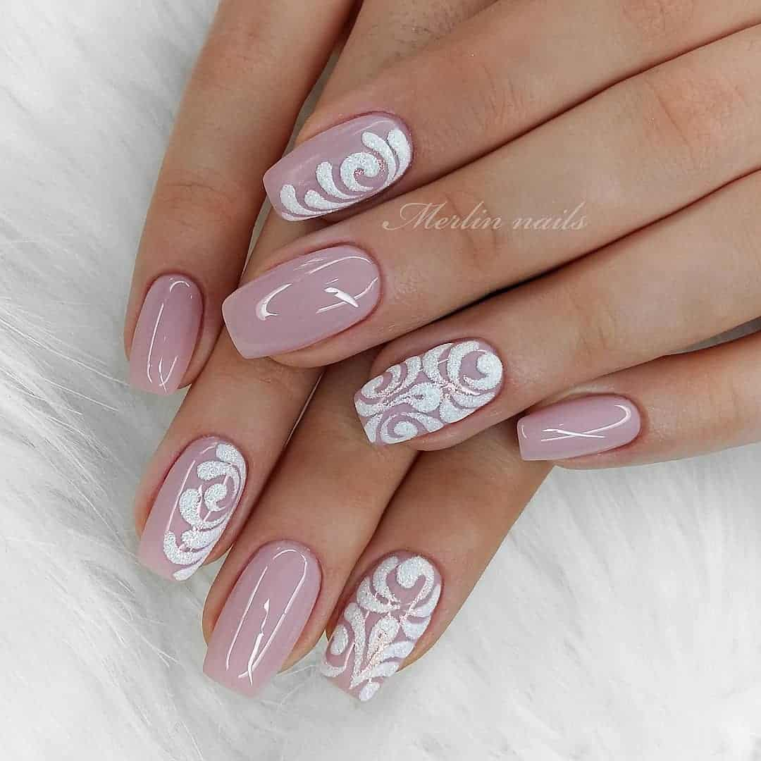 32 Super Cool Pink Nail Designs That Every Girl Will Love - Pink and White Acrylic Nails