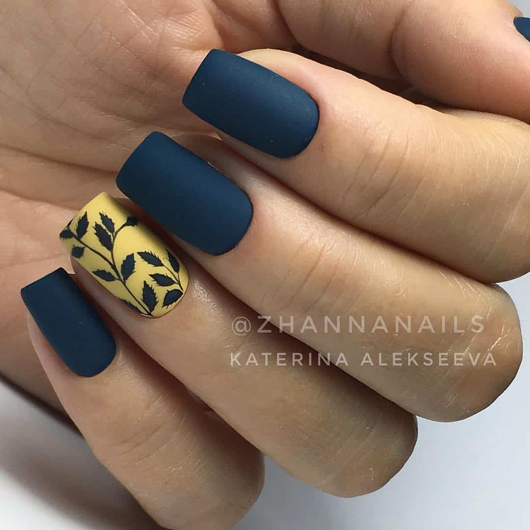 Amazing Matte Acrylic Nails When You Are Tired of the Glossy Ones - Twig Patterns