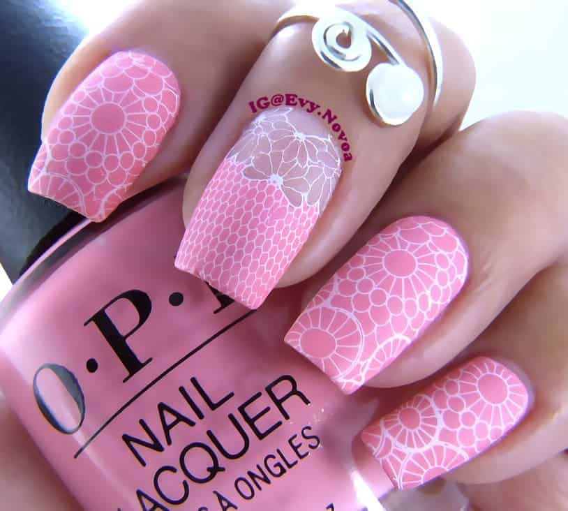 70 Trendy Designs Acrylic Nails To Try Once - Nail Art with Lace Designs