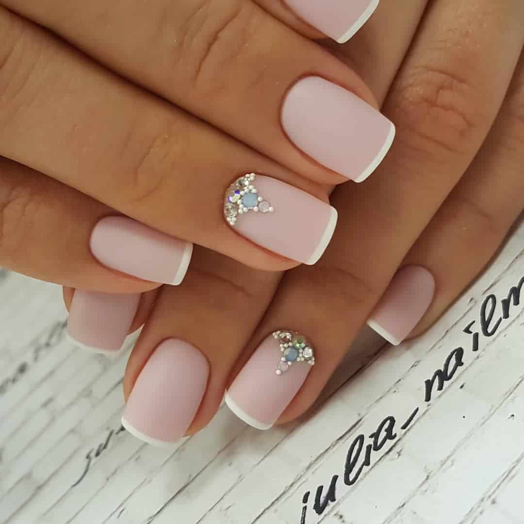 Amazing Matte Acrylic Nails When You Are Tired of the Glossy Ones - Variations In French Manicure