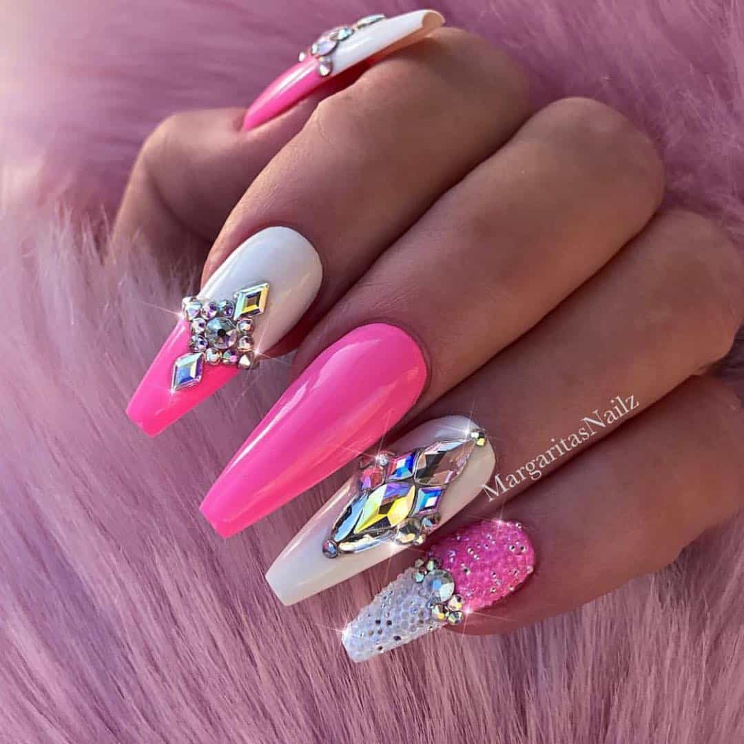 32 Super Cool Pink Nail Designs That Every Girl Will Love - Pink Acrylic Nail Ideas