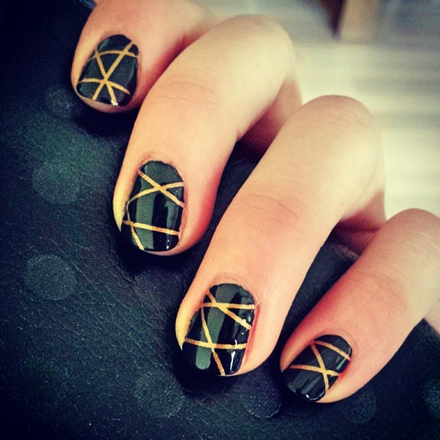 70 Trendy Designs Acrylic Nails To Try Once - Striped Nail Art Designs