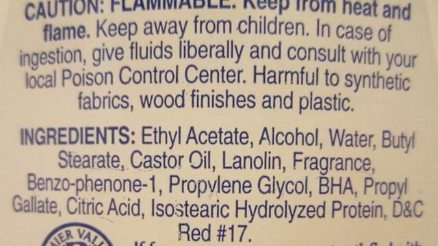Chemicals used in Nail Polish